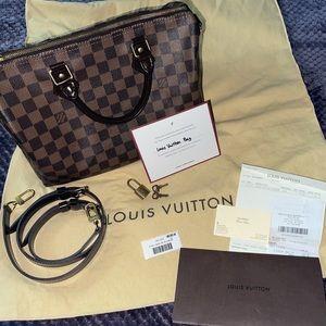 Authentic Louis Vuitton speedy b 30 Damier Ebene